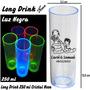 Copo Long Drink Neon Único Com 250 Ml Personalizado 100 Pçs