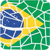 Kit 6 Porta-copos Brasil Craquelê Copa E Cia