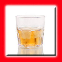 Copo Para Whisky Acrílico Cristal 350ml - 6 Unidades