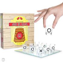 Jogo Da Velha C/ Shots Vidro Tequila Vodka Tamanho M