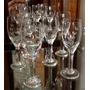 Conjunto Jogo 6 Taças De Licor De Cristal Lapidado Usada