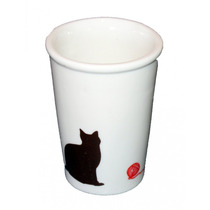 Copo Em Cerâmica Decorativo Gato