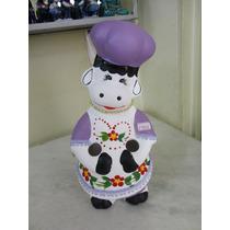 #14601 - Porta Colher Pau Vaquinha Cerâmica Decorada Roxa!!!