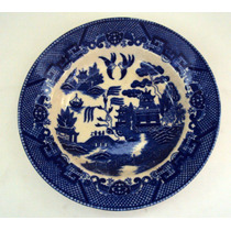 Prato Sopa Willow / Azul Pombinho