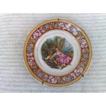 Prato De Porcelana Cena Romantica Dourada