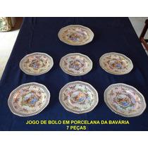 Jogo De Pratos Para Bolo Em Porcelana Bavária