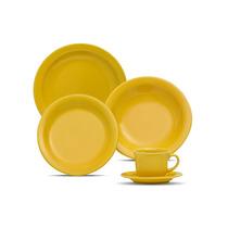 Jogo De Jantar 30 Peças Oxford Floreal Yellow !