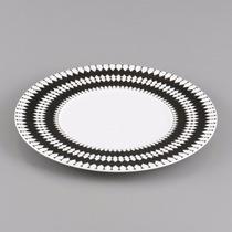Jogo 6 Pratos Jantar Porcelana 27 Alchime Noire Wolff 17006