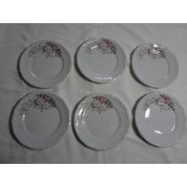 Pratos Rasos E Fundos 12 Peças Porcelana Schmidt Eterna