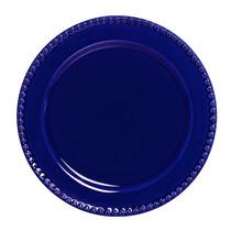 Conjunto Prato Raso Bolinha Azul 6 Peças Scalla