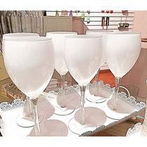 Jogo De 6 Taças Para Vinho Brancas/vermelhas/pretas 430 Ml