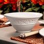 Conjunto Bowls Baroque Branco - 6 Peças - Em Cerâmica