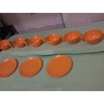 6 Xícaras Goyana Cor Amarela + 3 Pires