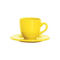 Conjunto Xicaras Chá Standard Amarelo 6 Peças Scalla
