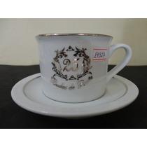 #14927 - Par Xícaras Chá Porcelana Bodas Prata!!!