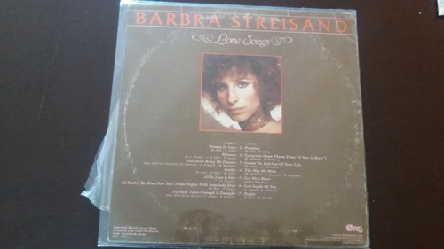 Lp Barbra Streisand - Love Songs.