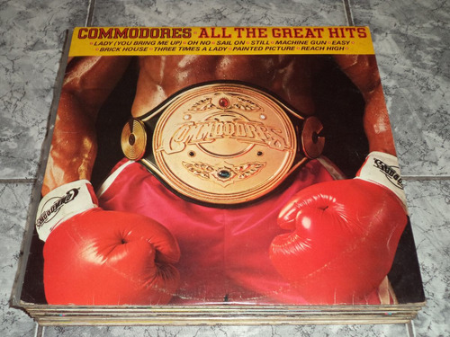 Lp Commodores All The Great Hits