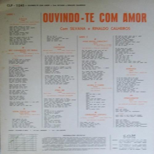 Lp Silvana E Rinaldo Calheiros (ouvindo-te Com Amor)