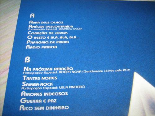 Lp Vinil Erasmo Carlos: Abra Seus Olhos / 1986 - Disco Novo!