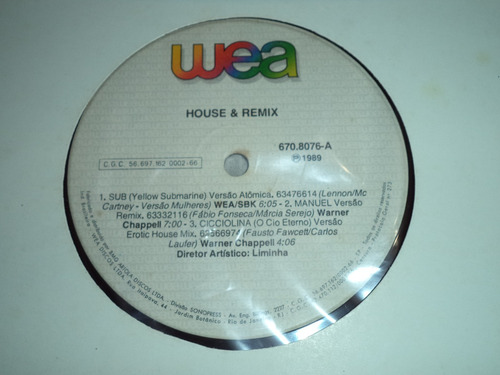 Lp/disco - House & Remix - Nacional ( House/dance )