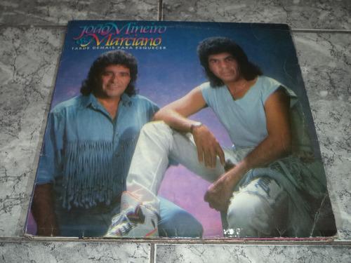 Lp/disco - João Mineiro E Marciano - Tarde Demais Para Esq.