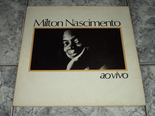 Lp/disco - Milton Nascimento - Ao Vivo