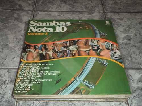 Lp/disco - Sambas Nota 10 - Vol. 3