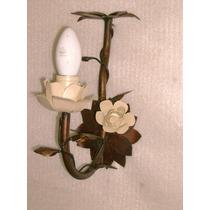 Lustre Arandela Rústica De Parede - 1 Braço Com Flor