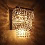 Lustre Parede Arandelas 3 Andares Pedras De Cristais