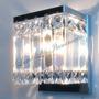 Arandelas Placas De Cristal Importado