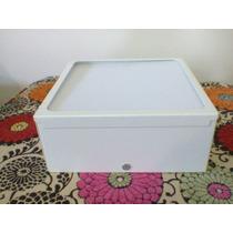 Plafon Arandela Sobrepor Quadrado Branco 15x15 Leitoso