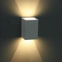 Arandela Externa Alumínio Injetado Branco Microtexturizado