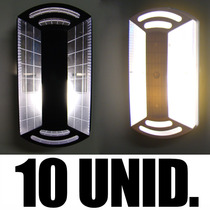 Kit 10 Luminárias Arandela Tartaruga Teto Parede Exterior