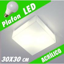 Kit 6x Plafons Led Acrílico 30x30 Luminária Com Lâmpada