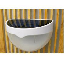 2 Luminárias Solar 6 Leds Muro Parede Escada Cerca Jardim Pe