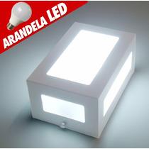 7x Arandelas Led 5 Vidros Com Lâmpada Externa Alumínio/vidro