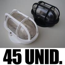 Kit 45 Luminárias Arandela Tartaruga - Frete Grátis