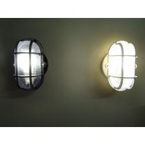 8x Kit Luminária Arandela Tipo Tartaruga + Lâmpada Led 7w