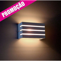 Kit 2x Arandela Frisada Luminária Parede Muro Externa / Int