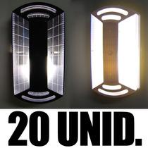 Kit 20 Luminárias Arandela Tartaruga Exterior Parede Teto