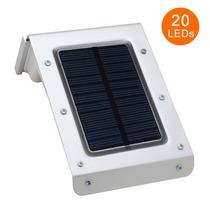 Lâmpada Solar 20leds Área Externa Sensor Movim. Frete Grátis