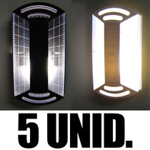 Kit 5 Luminárias Arandela Tartaruga Exterior Parede Teto