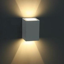 Kit 3 Luminária Balizador Arandela Facho Ext. Germany Branca