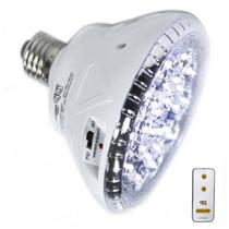 Lampada Luminária Emergência 24 Led Branca + Controle Remoto