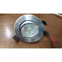 Lampada Led Downlight De Embutir Spot 3w Aluminio Bivolt Bq.