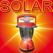 Luminaria Solar 6 Leds Única Dimerizável Casa Camping Sitio