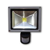 Refletor Led 30w - Sensor Presença Uso Externo - Branco Frio