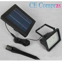 Refletor 30 Leds + Placa Solar + Bateria Com Frete Grátis