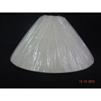 Cúpula P/ Abajur Luminária Pedestal Branca 15 X 30 X 19