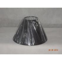 Cúpula Para Abajur - Luminária Cabeceira Preta 08 X 20 X 11